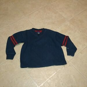 Boys Size 4 Long Sleeve Navy Sweater Vneck