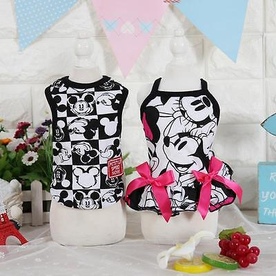 Dress For Cats (Clothes For Dogs Cats Cartoon Black Dog Dress Vest Pet Dog Clothes)