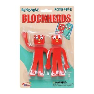 Blockheads-5-inch-Bendable-Pair-for-Gumby-and-Friends-Fans-MIB