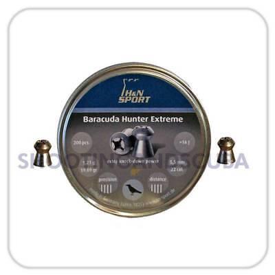 H&N  Baracuda Hunter Extreme .22 (5.5mm) ~ Tin of 200 pellets for Air Gun Rifle Hunter Extreme Air Rifle