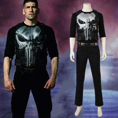 The Punisher Frank Castle Daredevil Skull Ghost Marvel Halloween Cosplay Costume