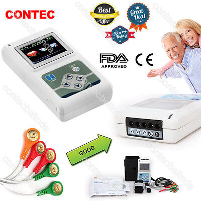 Contec 3 Channel 24 Hours Ecg Holterportable Recording Monitorpc Software Fda