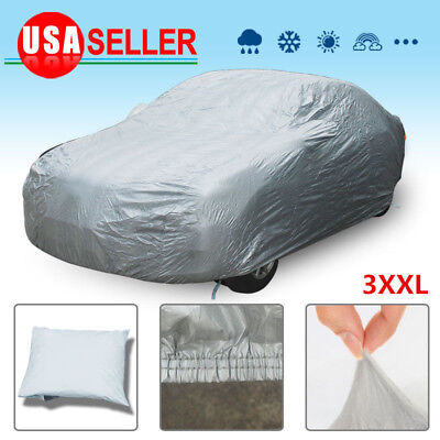 Full Car Cover Sun UV Heat Dust Rain Snow Resistant All Weather Protection 3XXL