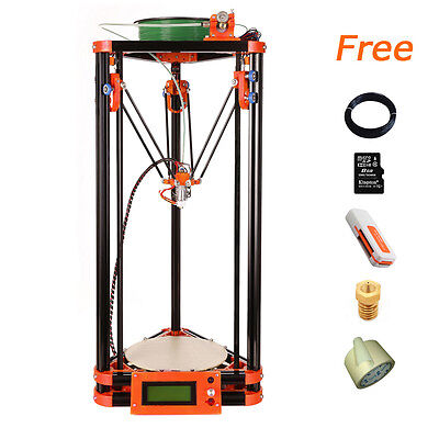 Delta Flsun 3D Printer Kossel Reprap 1 Roll Filament Hot Bed Auto Level from US