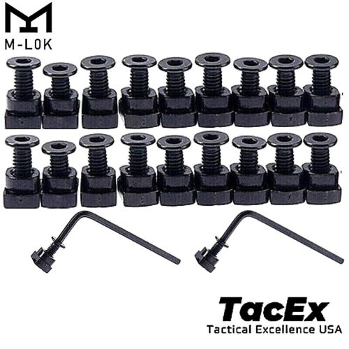 20 Pack M-LOK Screw and Nut Replacement Set for Rail Sections W/ Hex Keys