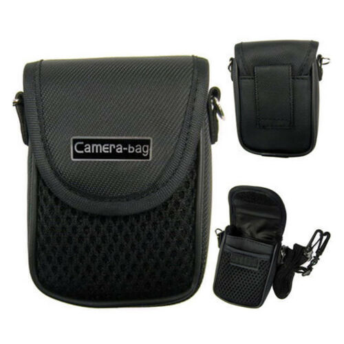 Compact Camera Case Universal Soft Bag Pouch + Strap Black 3size Eo