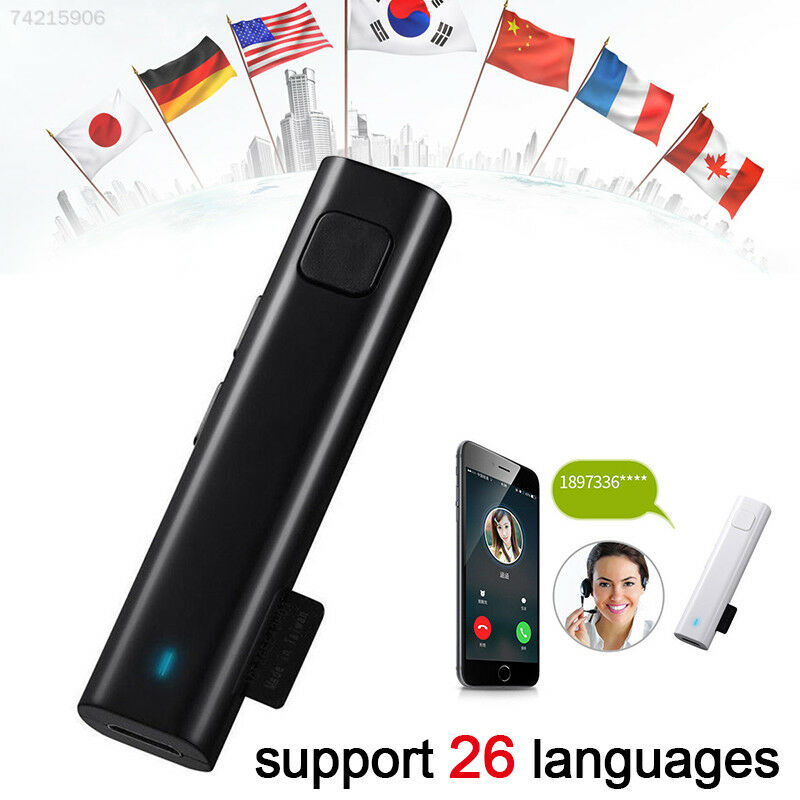 FCE7 Portable Bluetooth Wireless Smart Real Time Multi-Language Voice Translator
