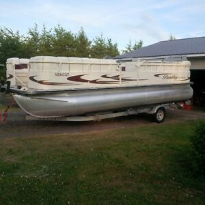24 foot bentley pontoon with trailer for sale