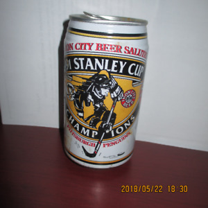 1991 Pittsburgh Penguins Stanley Cup commemorative Can
