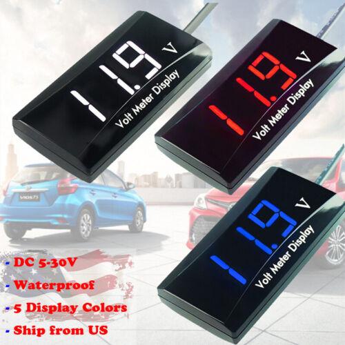 DC 5-30V LED Digital Voltage Panel Meter Voltmeter For Car Motorcycle 12V 24V