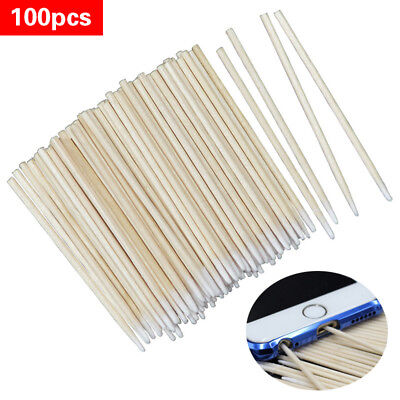 100Pcs Cotton Disposable Stick Clean Tool for AirPods Earphone Phone Charge Port