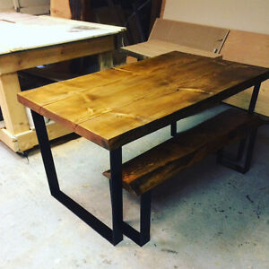 Custom live edge dining set
