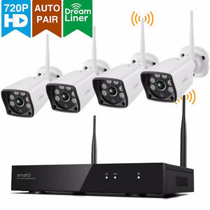 BRAND NEW 4 Channel 720p HD Wireless Security Camera System