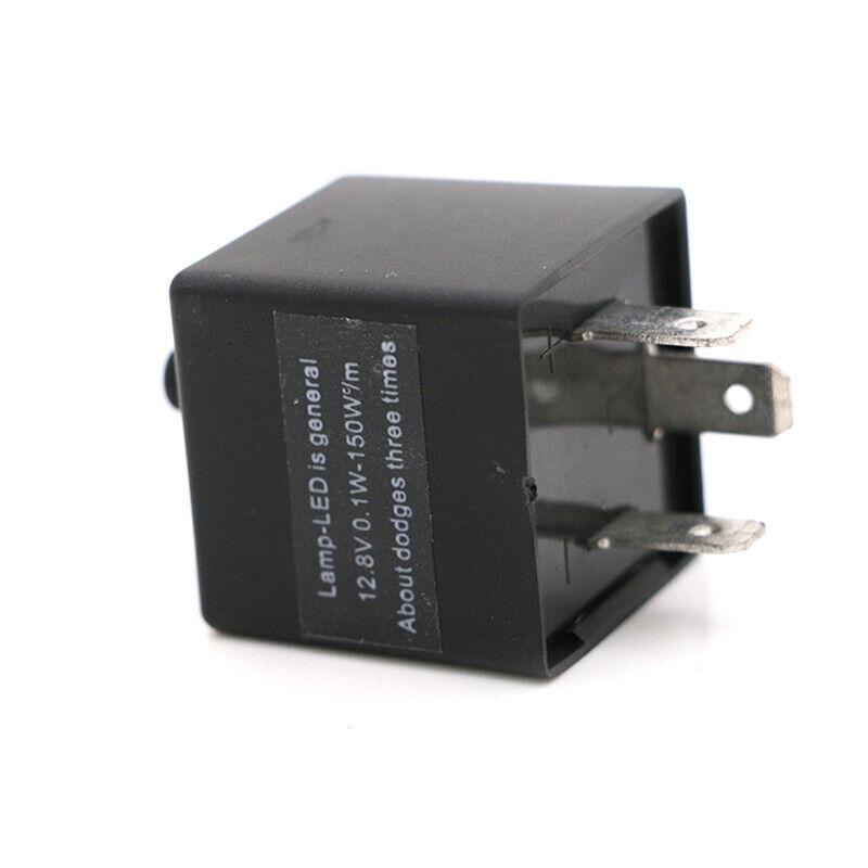 12V 3 Pin LED Flasher Relay Car Turn Signal Indicator Blinker Light Flash Black