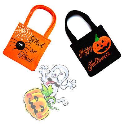 Pumpkin Spider Pattern Children Halloween Gift Handle Bags For As Candy Bag - Halloween Pumpkins For Children