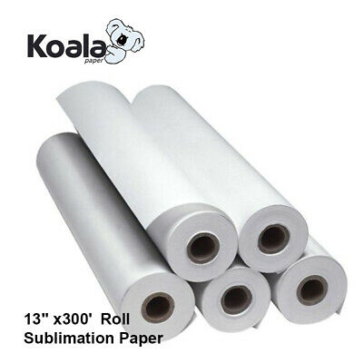 Koala Dye Sublimation Ink 13x300 Roll Heat Transfer Paper 2 Core Inkjet Epson