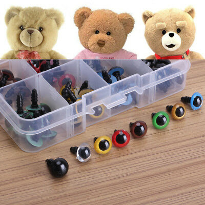 80pcs 8 Color Cute Plastic 10mm DIY Eyes For Teddy Bear Doll Animal Crafts Box