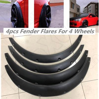 US 4pcs Universal Flexible Car Body Wheel Fender Flares Extra Wide Arches Black  for sale  USA