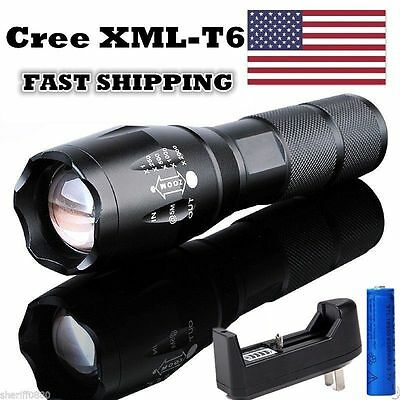 15000Lm T6 Led Flashlight Tactical Cree Xml Torch Rechargeable Battery Charger