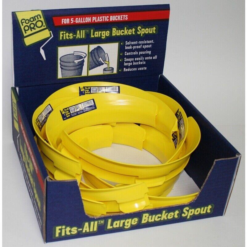 Foampro Fits-All 7 In. W Yellow Plastic Bucket Spout