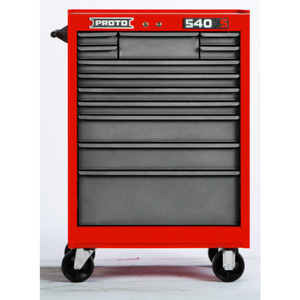 """NEW IN BOX!! PROTO® 540S 27"""" ROLLER CABINET - 12 DRAWER, RED"""