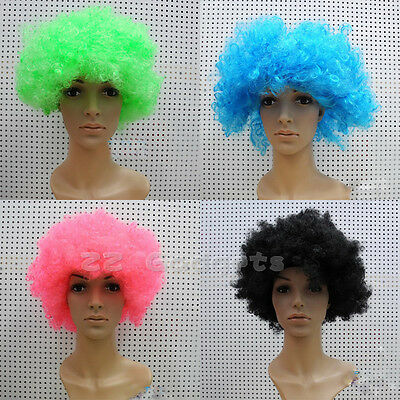 Facial Hair Afro Curly Wig for Football Fans Theme Party Clown Costume Halloween - Football Themed Halloween Costumes