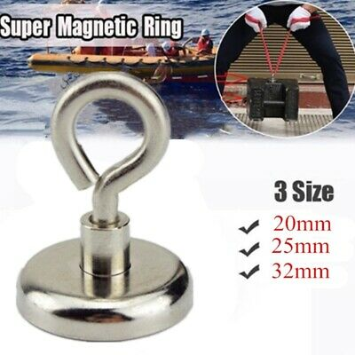 Ultra Strong Heavy Duty Magnetic Hook Ring Fishing Gear Deep Sea Salvage Magnet