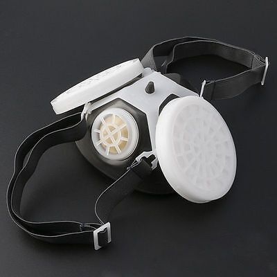 Dual Anti-dust Gas Respirator Mask Twin Chemical Spray Paint Safety Headwear