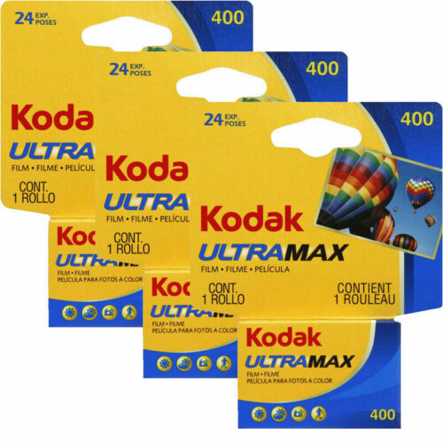 3 Rolls Kodak GC 400 ISO 135-24 Exposure UltraMax Color Print 35mm exp 2/2023