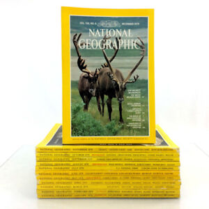 1979 National Geographic Magazines Complete Year Set 12 Issues