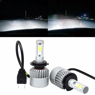 H7 LED Headlight Conversion 80W 8000LM COB 6500K White Light Bulbs Waterproof
