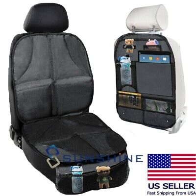 Thickest Car Seat Protector Padded Waterproof Back Seat Organizer Kick Mat Cover