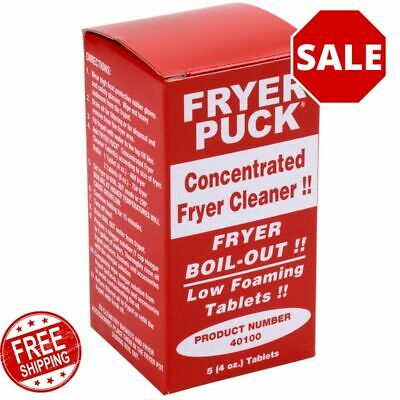 30 Pack Commercial Restaurant 4 Ounce Deep Fat Fryer Cleaner Cleaning Tablets
