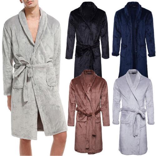 Mens Bathrobe Dressing Fluffy Bath Robe Sofe