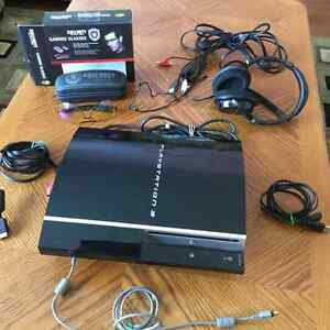 Playstation 3 with 3Games and Turtle Beach Headset & Glasses London Ontario image 1