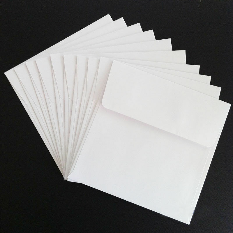 120mm 130mm 140mm 150mm 160mm 170mm White Square Envelopes FREE SHIPPPING - 120 * 120mm