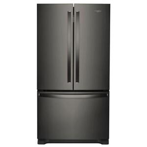 "Deals on Home Appliances | Whirlpool WRF540CWHV 36"" Inch counter-depth French 3-Door Refrigerator (BD-925)"