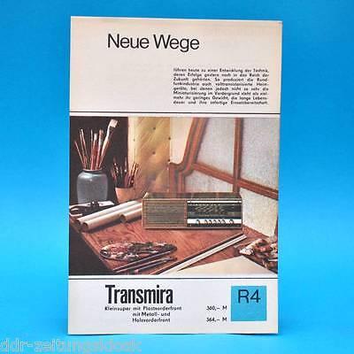 Transmira Kleinsuper DDR 1968   Prospekt Werbung Werbeblatt DEWAG R4