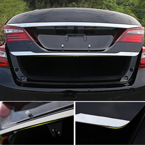 1X Chrome Car Rear Gate Garnish Molding Cover Trim For Honda Accord 2018-2019