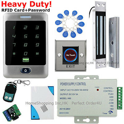 Waterproof RFID File card+Password Door Access Control System+Magnetic Lock+Remote