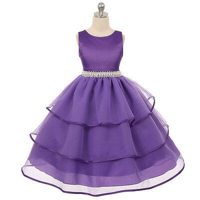 Flower Girl Dress Purple (PURPLE Flower Girl Dress Recital Wedding Party Birthday Pageant Homecoming)