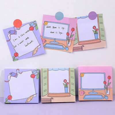 Fresh Tulips N Times Sticky Notes Cute Memo Pad Notepad Journal Planner Stickers
