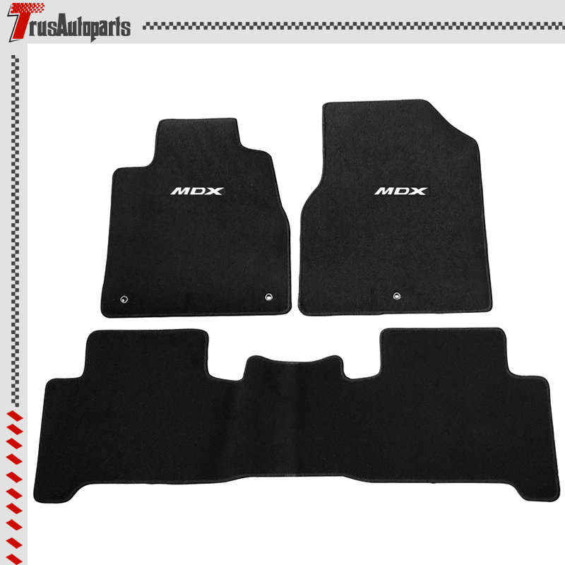 For 07-13 Acura MDX Black Floor Mat Anti-Slip Front Rear