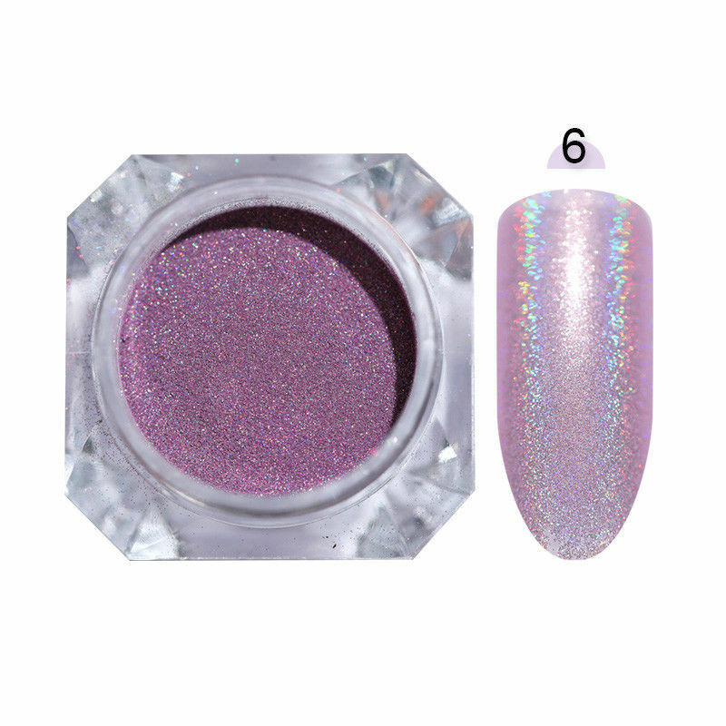 Nail Art Glitter Powder Dust UV Gel Acrylic Powder Sequins Christmas Manicure