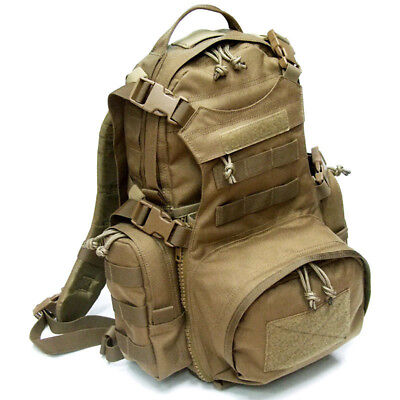 MOLLE Kangaroo Yote Assault Hydration Tactical Back Pack Beaver - Coyote Brown
