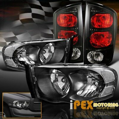For All 2002 2005 Dodge Ram 150025003500 Black Headlights  Tail Lights  Bulb