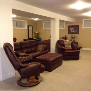 Fully furnished non-smoking basement studio apartment for rent