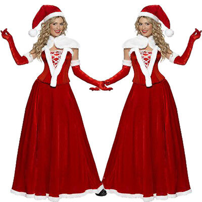 Sexy Women Adult Mrs Santa Claus Christmas Xmas Costume Party Outfit Fancy Dress - Mrs Santa Claus Costume