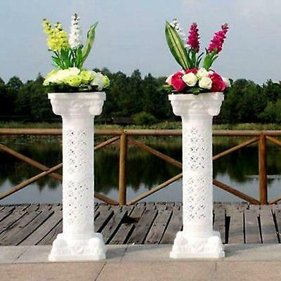 Plastic Roman Columns (White Plastic Roman Pillar Wedding Columns Garden Venue Decorations)
