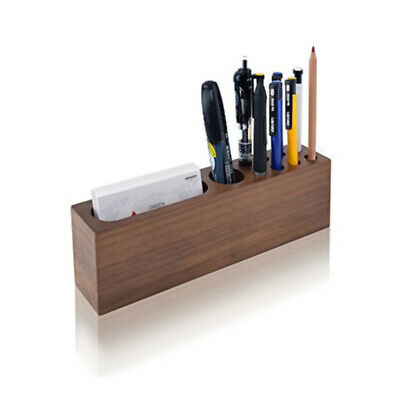 Wood Business Card Holder Desk Ard Display Desktop Stand For Office Tabletop